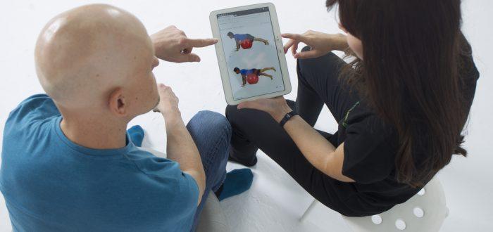 Ejercicios con el fisioterapeuta